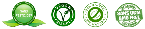 Quadri Logo transparent PESTICIDE VEGAN Naturel OGM